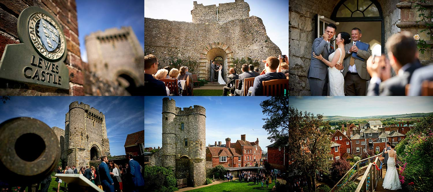 Lewes castle wedding venue