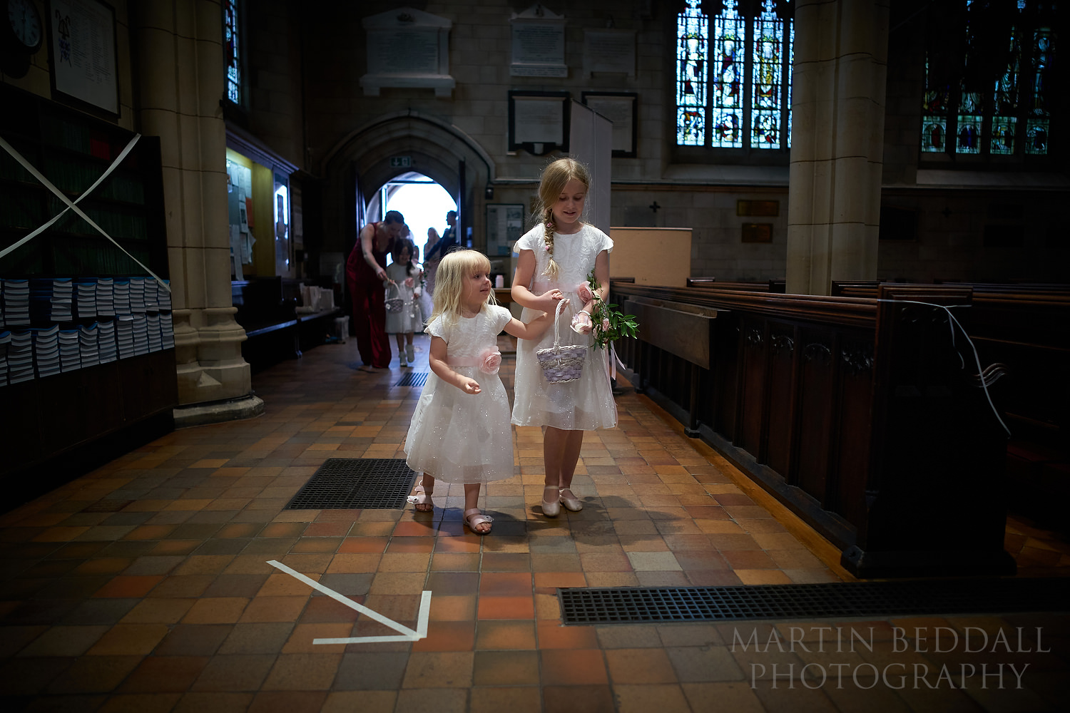 Flower girls start the wedding ceremony