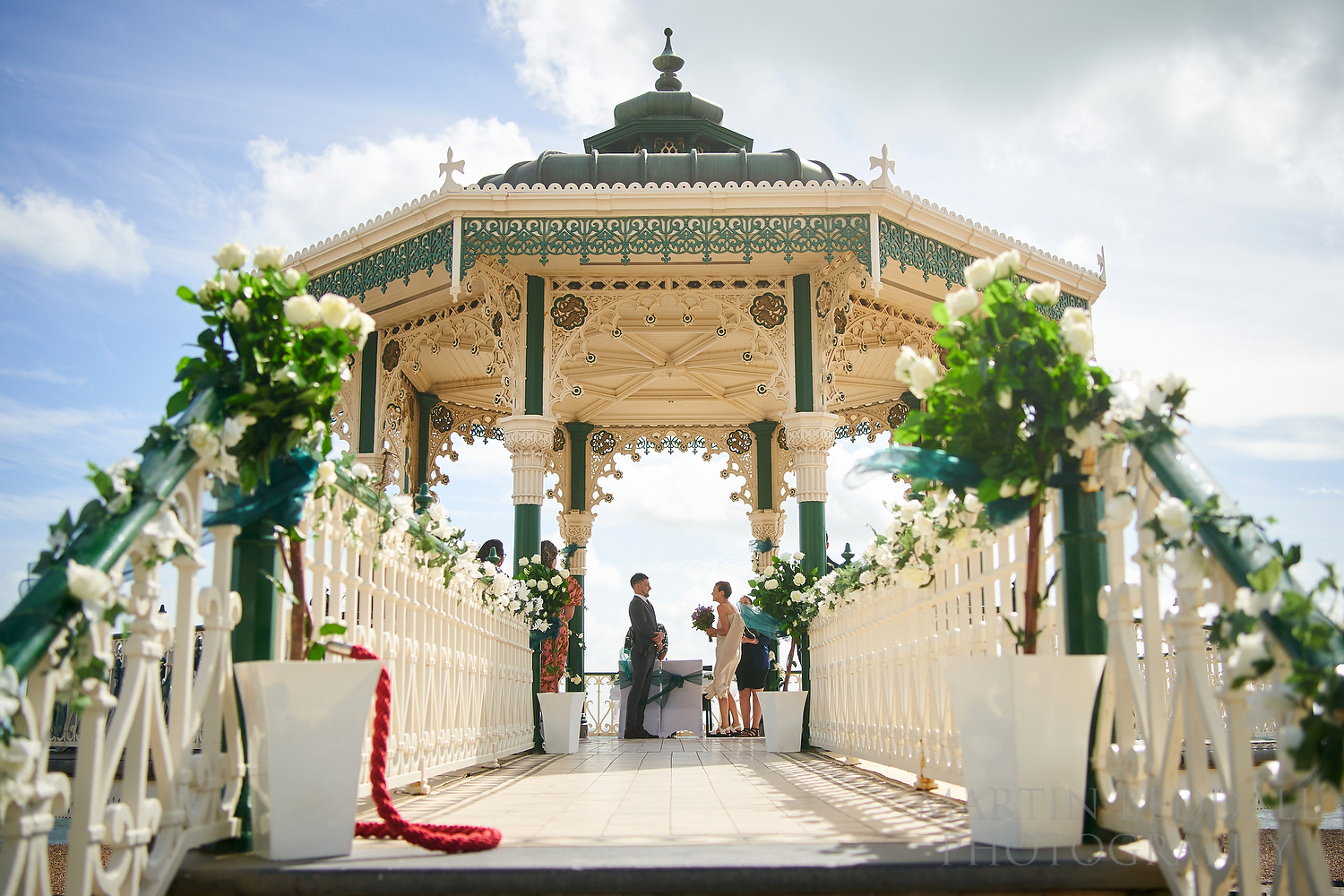 Brighton bandstand wedding ceremony