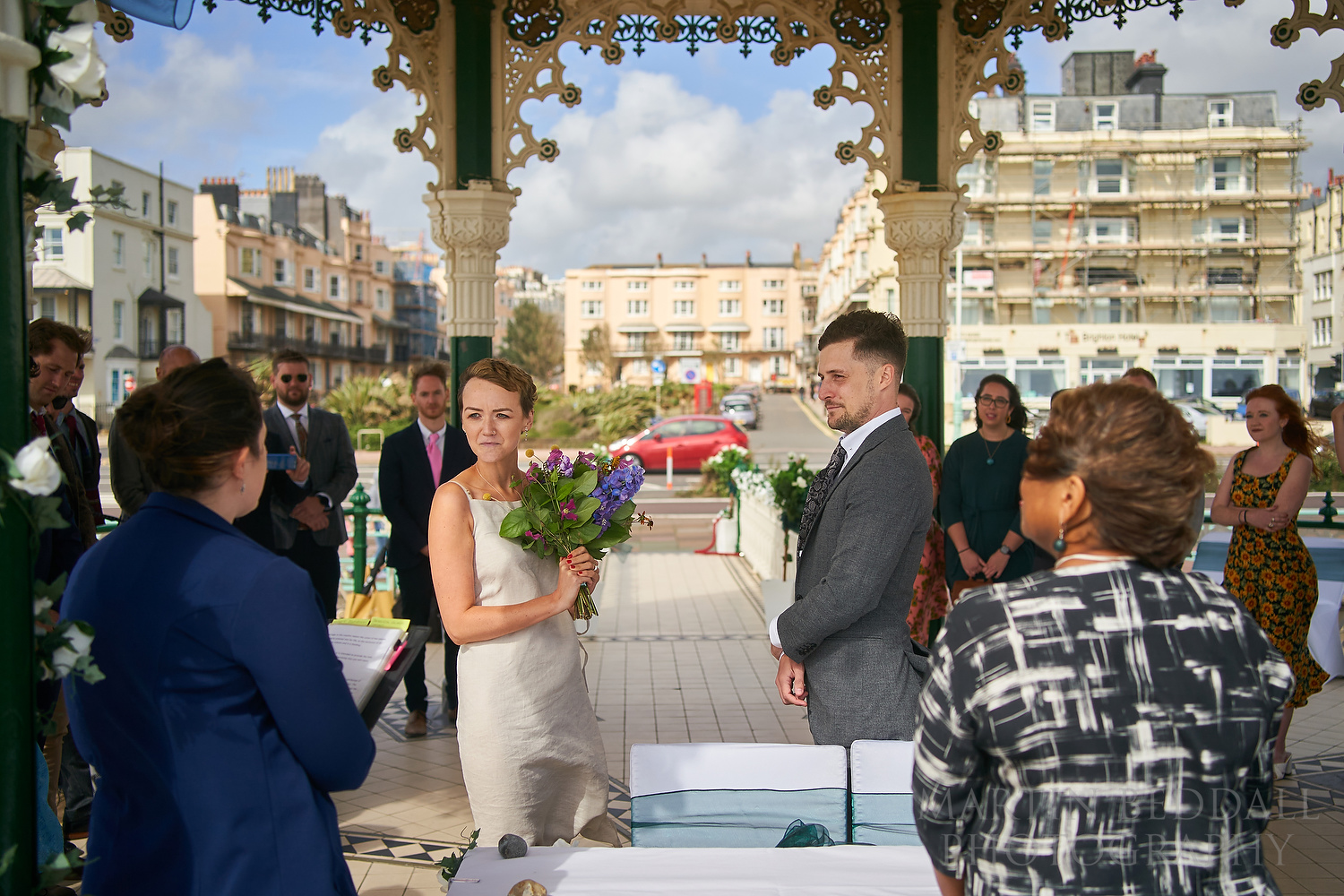 Wedding in Brighton bandstand