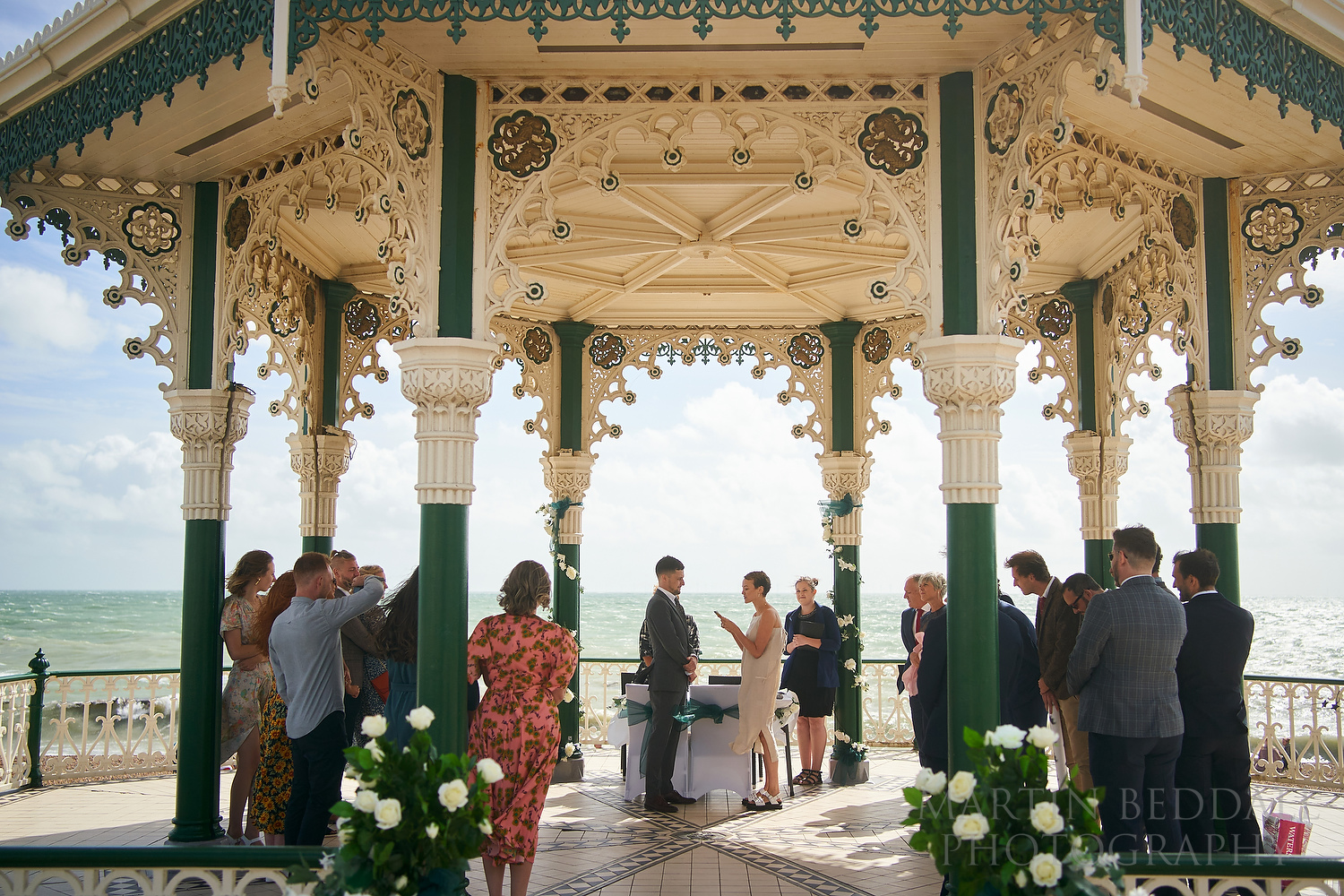 Wedding vows in Brighton bandstand