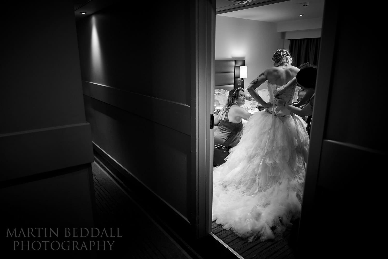 Weddings in 2020 - bride gets ready in Premier Inn
