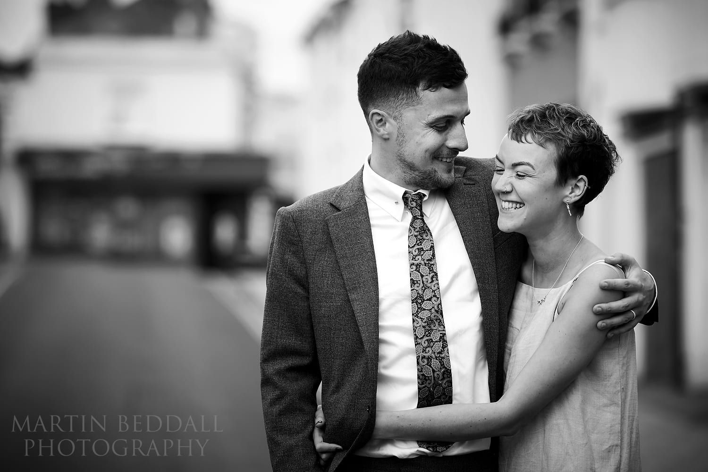 Natural wedding portrait