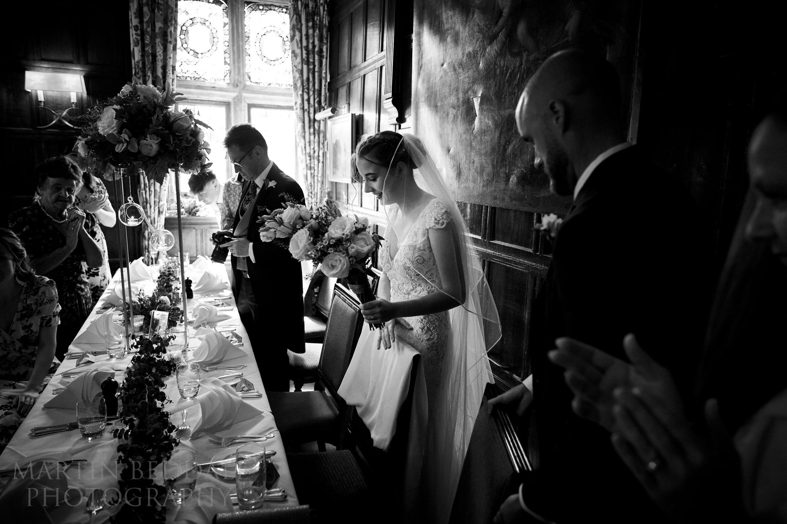 Wedding dinner at Ockenden Manor
