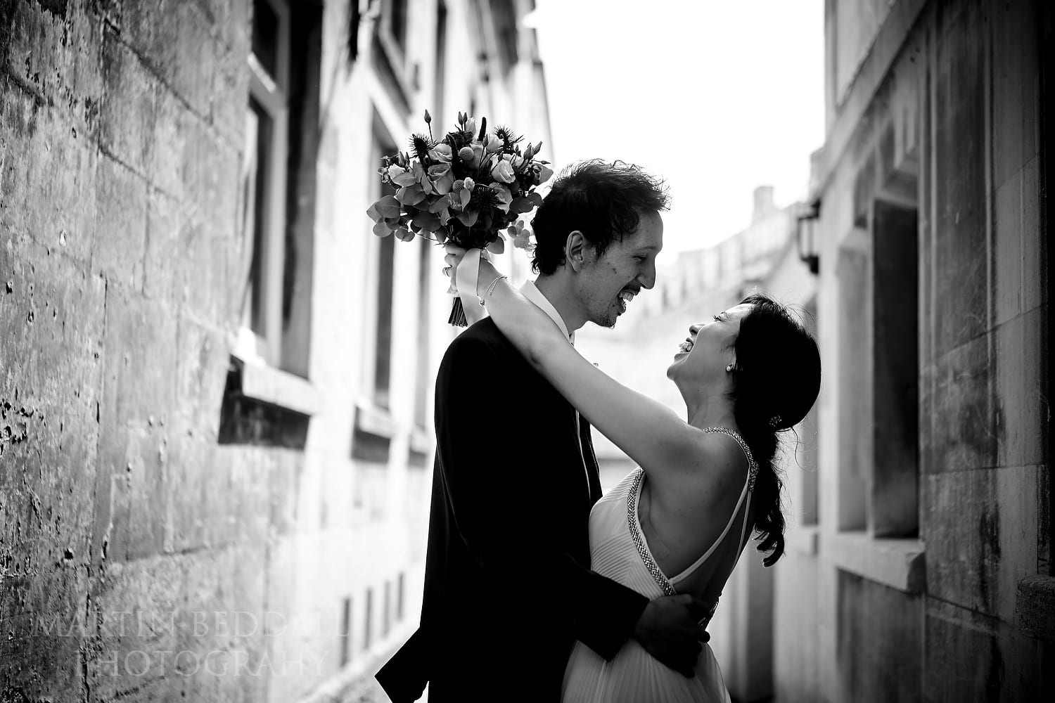Simple couple portrait at wedding in Bath